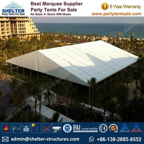 50 x 50 Tent For Sale - Wedding Marquee Holds 1,000 People