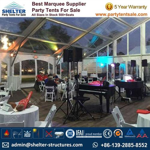Clear Top Marquee For Small Gathering Party