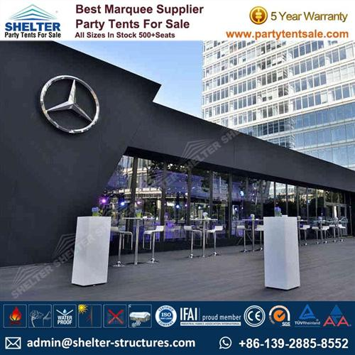 Cube Tent With Inflatable Roof For Benz Car Launch