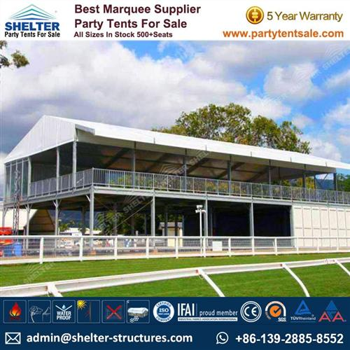 2 Storey Tent With ABS Walls For VIP Spectator Stands