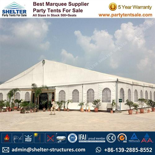 Aluminum Tent With Clear PVC Windows For Outdoor Wedding Venue