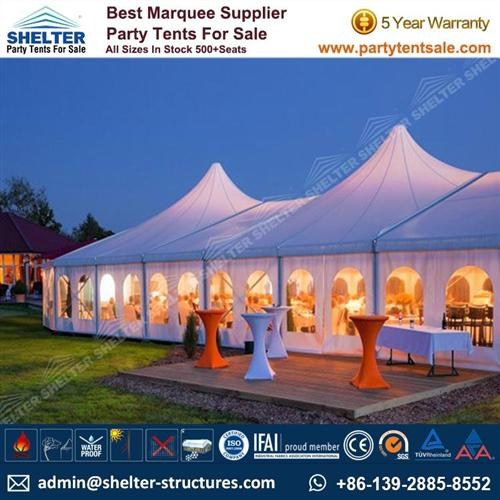 40m By 70m Bell End Tent With Luxury Decoration For Sale  sc 1 st  Wedding Tents & 130u0027 x 230u0027 Bell End Tent - Mixed Tent For 2000 Guests - Party Tent ...