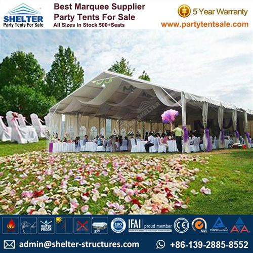 Portable Structures - Reception Tents For 100 - 300 People