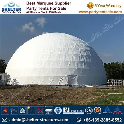 White Fabric Geodome Marquee For Sale UK