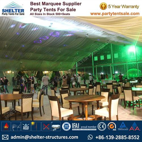 Clear Marquee For Wedding Ceremony