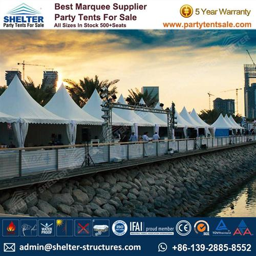 Pagoda Tent For Qatar Boat Show 2015