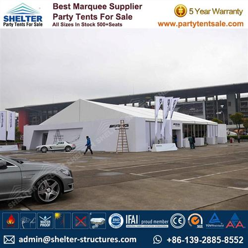 Event Marquees With GLass Walls For Car Show