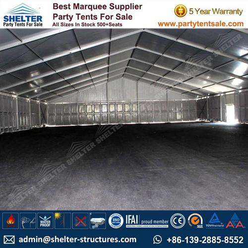 Temporary Storage Building With Waterproof Fabric