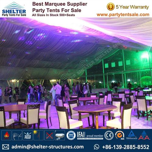 Clear Tent With Ivory Linings Hosts 500+ Guests