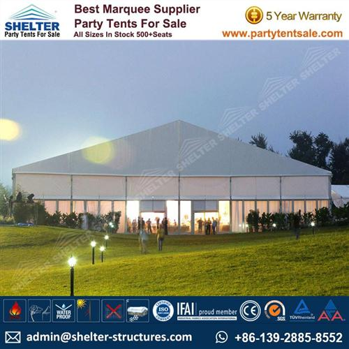 Event Tent With Pure White PVC Fabric