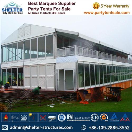 Double Decker Tent With Glass Walls For Sale