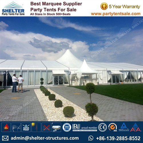 Mixed High Peak Tent/ Bellend Tent/ Party Marquee