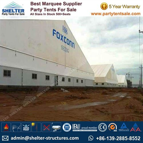 65×170m Outdoor Storage Tent For Foxconn