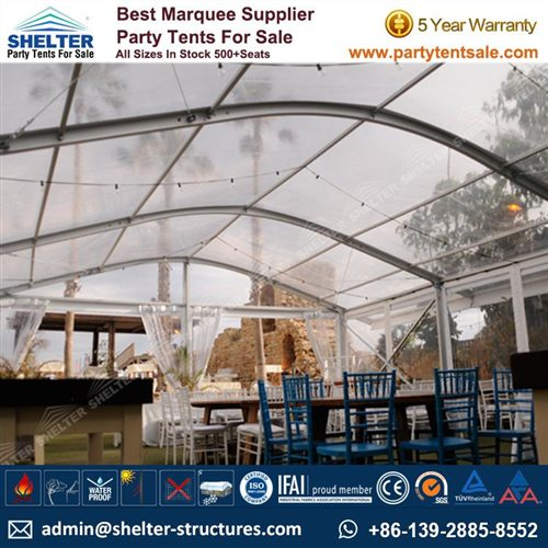 Clear Tent For 100 People – Arch Tent For Party