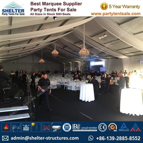 20m Clear Span Banquet Marquee For 400 People