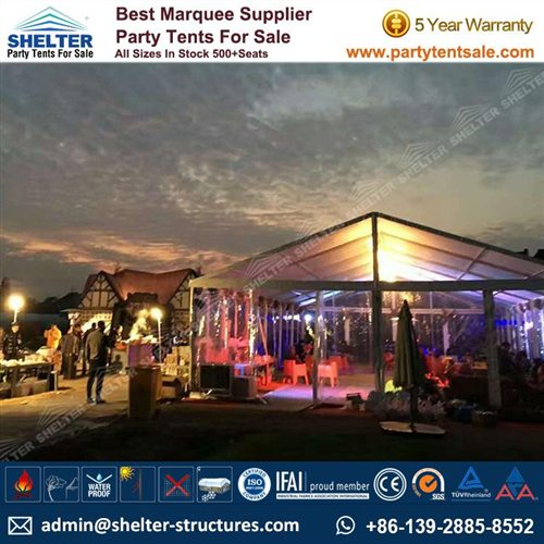 10 x 20 Party Tent For Sale - Tent With Clear Top