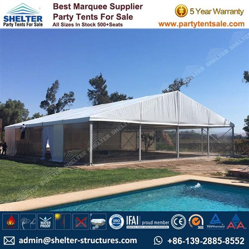 20 x 25m Clearspan Tent for Backyard Party