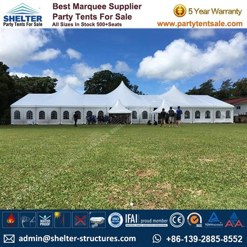 500 Seats PVC High Peak Mixed Tent for Wedding
