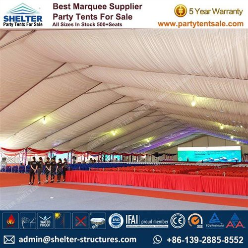 40x75m White Event Tent for Groundbreaking Ceremony