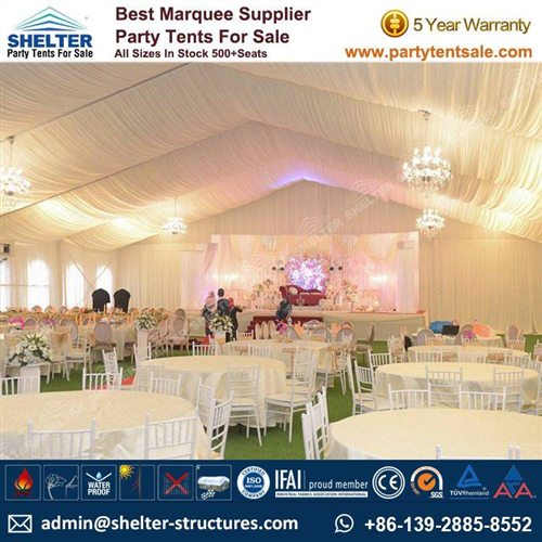 20m Span White Wedding Tent Sale in Malaysia